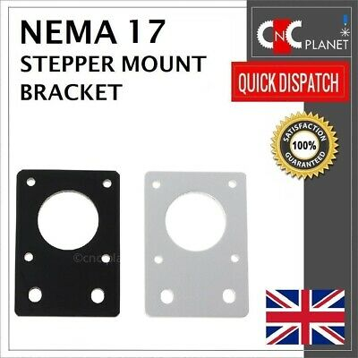 Nema 17 42mm Stepper Motor Mount Flat Bracket Plate Alloy CNC 3D Printer UK FAST 10