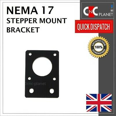 Nema 17 42mm Stepper Motor Mount Flat Bracket Plate Alloy CNC 3D Printer UK FAST 2
