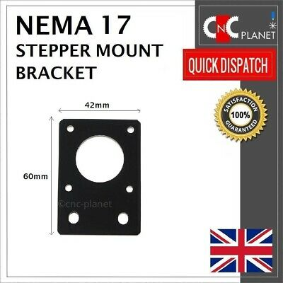 Nema 17 42mm Stepper Motor Mount Flat Bracket Plate Alloy CNC 3D Printer UK FAST 12