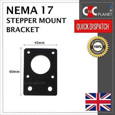 Nema 17 42mm Stepper Motor Mount Flat Bracket Plate Alloy CNC 3D Printer UK FAST 9