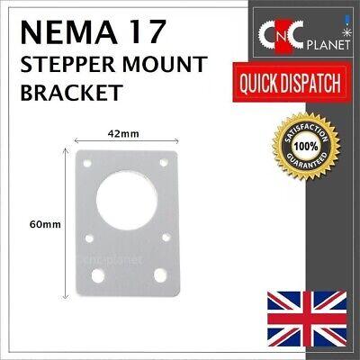 Nema 17 42mm Stepper Motor Mount Flat Bracket Plate Alloy CNC 3D Printer UK FAST 4