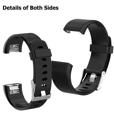 Fitbit Charge 2 Bands Replacement Silicone Metal Wristband Watch Strap Sports AU 9