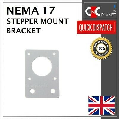 Nema 17 42mm Stepper Motor Mount Flat Bracket Plate Alloy CNC 3D Printer UK FAST 3