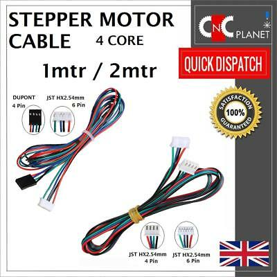 Nema17 4 wire Stepper Motor Cable with 4 Pin Dupont 6Pin HX2.54mm JST Connector 6