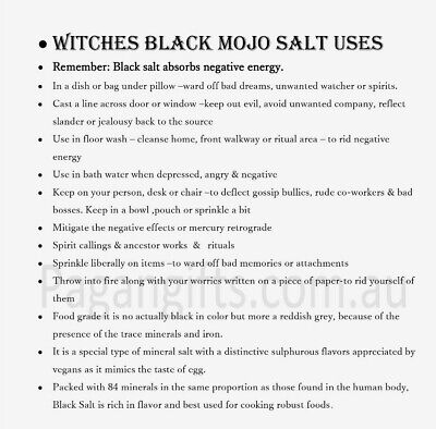 Black Salt spell negative energy spells Wicca healer spirit smudge protection 2