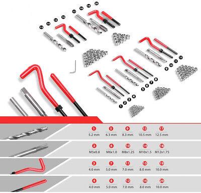 Kit Reparacion De Rosca Helicoil M5, M6, M8, M10 M12 131 Piezas Reparador -1234 2