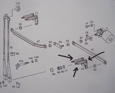 neues Wischlager links Mercedes Omnibus O405, A0008204746, 352,- Euro!