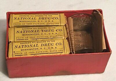 Antique Nature's Cure Blood Purifier Apothecary Pharmacy Box National Drug Co. 2
