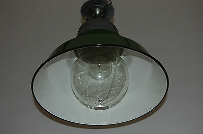 Crouse & Hinds Green & White Enamel Explosion Proof Vapor Light Industrial Glass 4