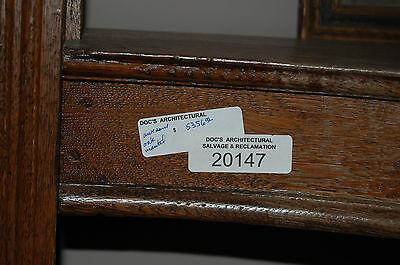 Antique Quarter Sawn Oak Fireplace Mantel  Columns Detailed Carvings House Salva 5