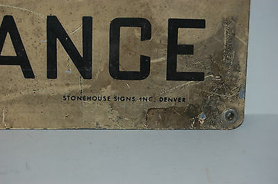 Industrial Antique NOTICE TRUCKERS DO NOT ENTER HERE Sign Stonehouse Signs Inc. 8