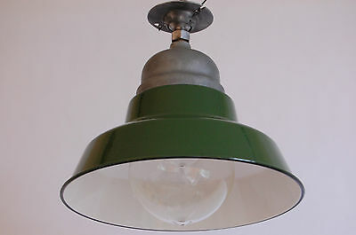 Crouse & Hinds Green & White Enamel Explosion Proof Vapor Light Industrial Glass 2