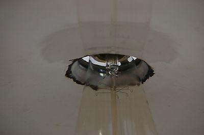 Industrial Antique Pendant Light Enameled Shade Porcelain Canopy & Socket 6
