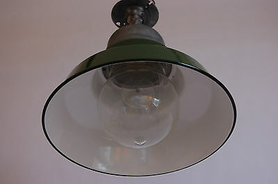 Crouse & Hinds Green & White Enamel Explosion Proof Vapor Light Industrial Glass 5