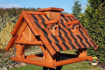 futterhaus vogelhaus vogelh uschen vogelh user mit st nder holzschindeln nr19b eur 94 90. Black Bedroom Furniture Sets. Home Design Ideas