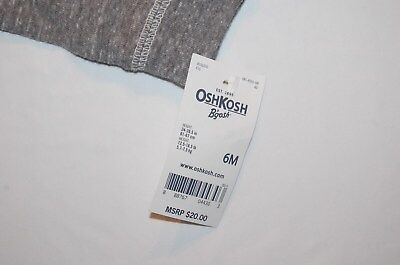 NWT OshKosh 6 months L/S Shirt Dinosaur T-rex Glow in the dark 4