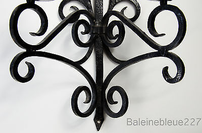 Old French Provence Wrought Iron Gothic Medieval Sconce Castle Candleholder 5