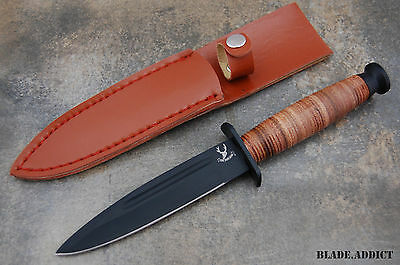 """9"""" Tactical Army Survival Fixed Blade Hunting Knife Bowie Camping Military New 3"""