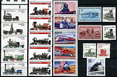 TRAINS! 22 Different MNH US Postage Stamps See Listing for Scott #'s 2