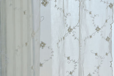VAN DEURS Gardine Rose Pure White 200 x 250 Landhaus Shabby Chic ...