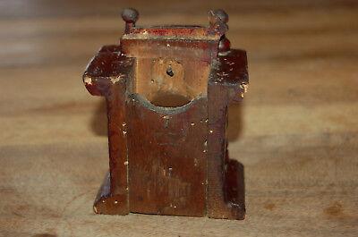 Puerta vieja reloj de bolsillo de madera época 1900 3