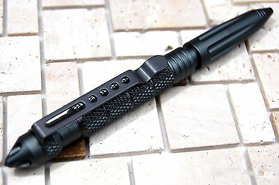 "Aluminum 6"" Tactical Pens Glass Breaker BLACK Survival Army Pen Christmas Gifts"