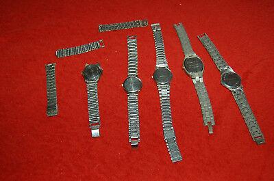 Packung Armbanduhren vintage ADEC Guy clarac workgear King Quarz ,Jean Lambert