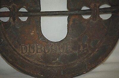 """Antique Diamond 7"""" Wood Stove Furnace Damper The Adams Co. Est 1883 Dubuque, IA 6"""