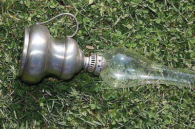 Lámpara Petróleo Antigua ,95% d'estaño ,pato en relieve C19 3
