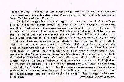 Kunstbeilage Medizinische Wochenschrift  1912 No. 1 Verbandsplatz