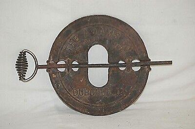 """Antique Diamond 7"""" Wood Stove Furnace Damper The Adams Co. Est 1883 Dubuque, IA 4"""