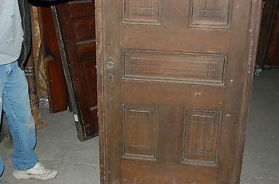 Antique Eight Panel Oak Pocket Door Vintage Home Decor Architectural Salvage 6
