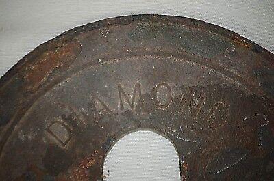 """Antique Diamond 7"""" Wood Stove Furnace Damper The Adams Co. Est 1883 Dubuque, IA 2"""