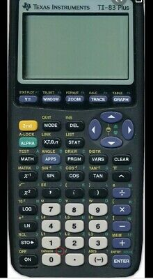 Texas Instruments TI-83 Plus Graphing Calculator With Cover 2