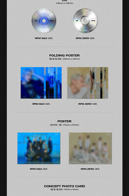 SF9 [RPM] 7th Mini Album 2 Ver SET+POSTER+2Photo Book+2F.Poster(ON)+6Card SEALED 4