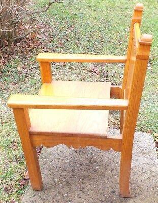 "Solid Oak ""Bishops Chair"" 2"