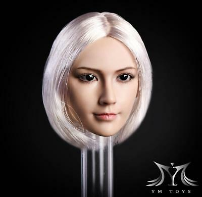 """1//6 Female Head Sculpt For 12/"""" Figure Hot Toys PHICEN Verycool GC020 C ☆USA☆"""