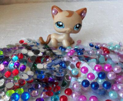 Littlest Pet Shop LPS  Accessories Custom  Lot: 1 Necklace 1 Bow 1 Cell Phone 6