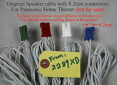 6 SPEAKER CABLE/WIRE connectors 16AWG 8.2mm Heavy Duty made for old ...