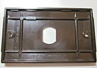 Uniline Despard Switch Wall Plate Cover Art Deco Ribbed Brown Bakelite Vintage 4