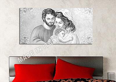 Quadro moderno Sacra Famiglia KH Capezzale Arredamento Casa Arte Stampa su tela