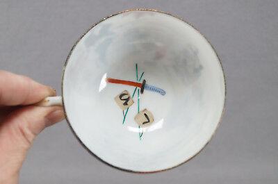 Late 19th Century Kutani Porcelain Hand Painted Samurai Tea Cup & Saucer B 7