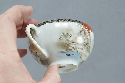Late 19th Century Kutani Porcelain Hand Painted Samurai Tea Cup & Saucer B 6