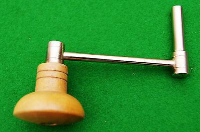 Antique Longcase Clock Crank Key No 4 (3.25 mm Square 5.5 mm Shaft) 3