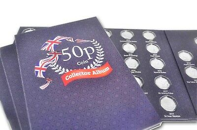 Up to date UK 50p Coin Hunt Collector Album Folder Includes Beatrix potter slot 2
