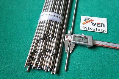 """6mm Dia Titanium 6al-4v round bar .236"""" x 10"""" Ti Grade 5 rod Solid Metal 15pcs"""