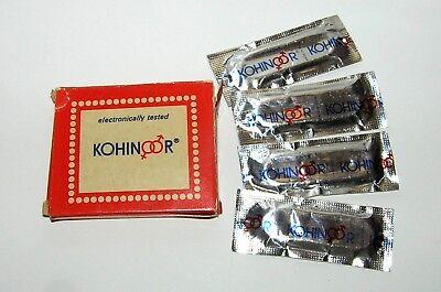 "Vintage INDIEN 1978 KONDOM ""KOHINOOR"" 4 Stück / Vintage INDIA 1978 4pcs CONDOM 6"