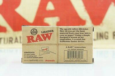 Authentic Raw Rolling Paper Cone Loader Work With King Size / 98 Special 5