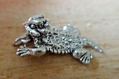 Sterling Silver 3D Detail Small 13x9mm Texas Horned Toad Frog Charm!