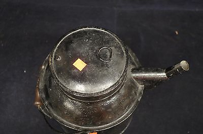 Primitive Antique Tin Watering Can Marked PS Garden Wood Handle Flower Toleware 5
